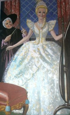 Old Cinderella Book | Ladybird Book Cinderella 1964 - The dress finale!