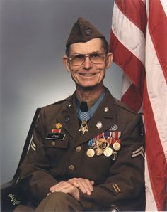 Desmond Thomas Doss (1919-2006) was a United States Army corporal and combat medical corpsman with the 77th Division during World War II. He was assigned to a rifle company during the Battle of Okinawa, and became the first conscientious objector to receive the Medal of Honor.