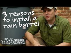 How to Get Free Water with a Rain Barrel | 26 Second Green