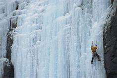 Ice Climbing In British Columbia Photograph  - Ice Climbing In British Columbia Fine Art Print