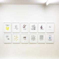 Not half empty Not half full Just Lagom  Installation view from Galleri 21. 🥛🥛🥛 #emmaphilipson #galleri21 #lagom #gallerywall #hanginthere #🍋 #🥛