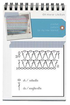 Crochet blanket {+ scheme} by IDA Interior LifeStyle, via Flickr