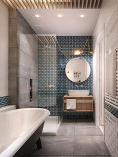 Blue and brown bathroom decor dark blue bathroom images best new ideas small designs bathrooms design . blue and brown bathroom decor Brown Bathroom Decor, Bathroom Interior, Small Bathroom, Master Bathroom, Home Staging, Bad Inspiration, Bathroom Inspiration, Bathroom Inspo, Bathroom Ideas