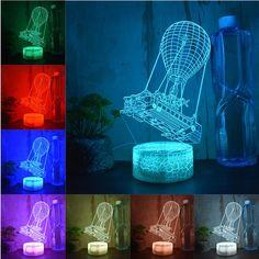 Battle Royale Game Fortnite 3D LED Night Light Action Figure Remote Table  Lamp