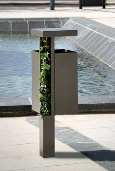 A public rubbish can be made better. dust-bin for public spaces HEDERA ATECH
