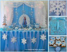 Idea para decorar una fiesta temática Frozen. #fiestadecumpleaños #Frozen