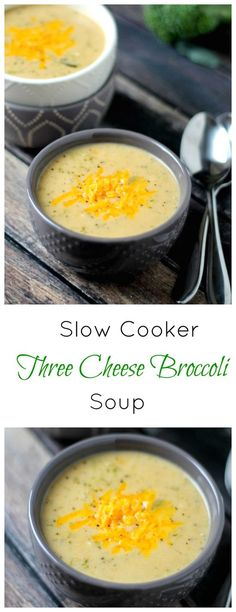 This Slow Cooker Cheese and Broccoli Soup recipe is ull of broccoli and 3 kinds of cheese. It's creamy, rich, and filling - exactly what a soup should be.