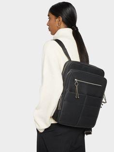 Plecak Z Zewnetrznymi Kieszeniami - Office Mood Sling Backpack, Leather Backpack, Color Negra, Fashion Backpack, Backpacks, Benefits Of, Black, Handbags, Leather Book Bag
