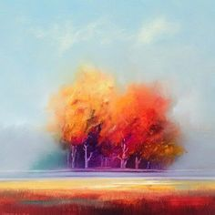"""Autumn Splendour"" by George Peebles. View more of George's stunning modern paintings on FineArtSeen l The Home Of Original Art. >> Pin For Later <<"