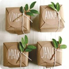 nature gift wrap