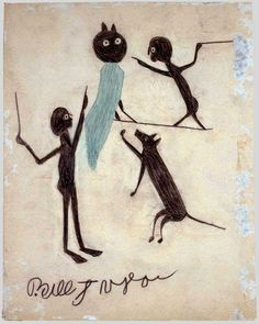 Bill Traylor (c. 1854–1949) Montgomery, Alabama 1939–1942 Colored pencil and charcoal on cardboard 13 3/4 x 10 7/8 in.