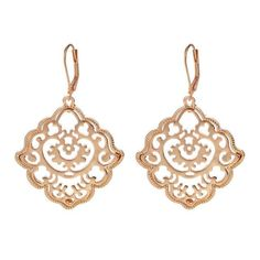 Drop earrings Geometric design Leverback clasp Zinc Alloy Total Length: Approx. 5 cm Total Weight: 14 g Available in silver.