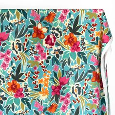 With a cool corduroy-like feel, this medium weight cotton faille showcases a fun floral print that's perfect for spring. This cotton has a lovely structured drape and textured hand that works well for light jackets, pinafores, and more. This deadstock fabric has been sustainably sourced from high-end luxury retail manufacturers. Floral Tops, Floral Prints, Teal Orange, Light Jacket, Corduroy, Cotton, Retail, Fabrics, Medium