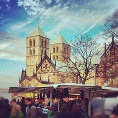 Markt auf dem Domplatz, Münster - Germany