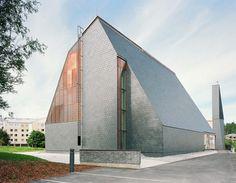 Impressionante Kuokkala Igreja Vitrinas de origem local Materiais   Inhabitat - Sustainable Design Innovation, Eco Arquitetura, Construção Verde