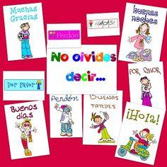 Recursos para la clase: Posters de normas de cortesía para decorar el aula