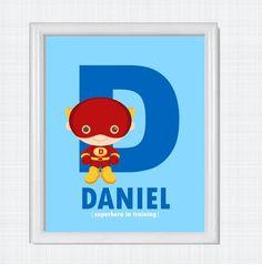 Printable Kids Wall ArtBatman Inspired By Daniludesigns On Etsy - Superhero wall decalssuper hero wall art etsy