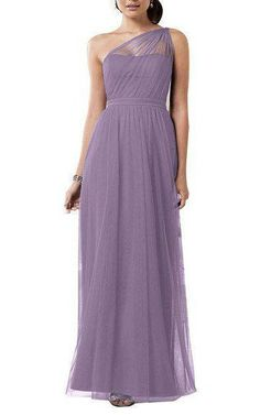 Illusion One Shoulder Tulle Ankle-length Dress