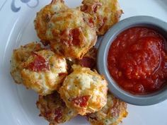 Pepperoni Pizza Puffs  Since my Grain Free baking tends to be dense, it would be easy to make a ball. Add pepperoni and some Daiya cheese.