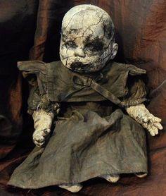OOAK Gothic Horror Undead Creepy Doll in Collectables, Weird Stuff, Really Weird | eBay