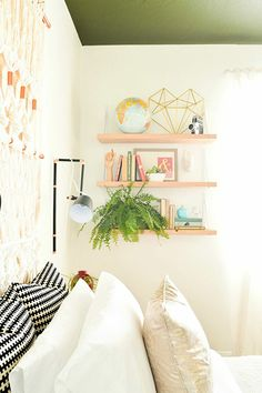 A Boho Bedroom Makeover That'll Make Your Jaw Drop #refinery29  http://www.refinery29.com/vintage-revivals/1#slide6