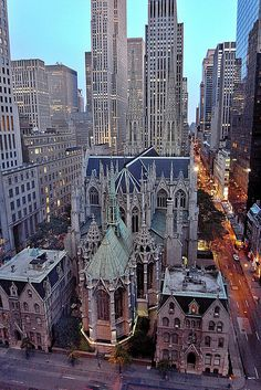 St Patrick's cathedral. New York City.
