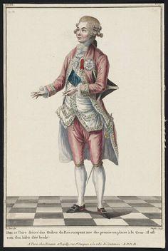 1781 Duc et Paire décoré des Ordres du Roi occupant une dese premieres places à la Cour: Il est-vetu d'un hábit d'été brodé.