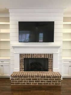 9 Persevering ideas: Fireplace Mantle With Built Ins corner fireplace remodel.Traditional Fireplace Craftsman Style fireplace built ins mounted tv.Old Fireplace. Fireplace Garden, Paint Fireplace, Fireplace Built Ins, Shiplap Fireplace, Old Fireplace, Concrete Fireplace, Rustic Fireplaces, Farmhouse Fireplace, Marble Fireplaces