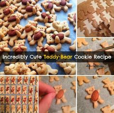 Here is a cute and delicious dessert recipe for teddy bear cookies, They are almost too cute to eat! Holiday Baking, Christmas Baking, Prim Christmas, Christmas Crafts, Christmas Decorations, Teddy Bear Cookies, Teddy Bears, Cookie Recipes, Dessert Recipes