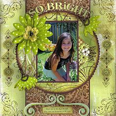 Beautiful layout featured on scrapbooking24/7.com
