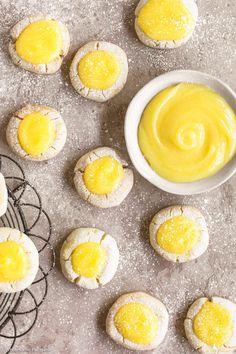 Lemon Curd Shortbread Cookies