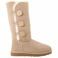 Cheap Uggs Boots outlet Online uggshop - Off UGG Bailey Button Triplet 1873 Boots Sand [Ugg boots - Uggs For Cheap, Ugg Boots Cheap, Boots Sale, Cute Shoes, Me Too Shoes, Ugg Bailey Button, Bailey Bow, Boots Online, Bearpaw Boots