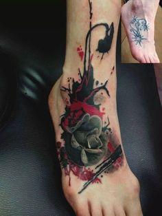 Tattoos News Pics Videos And Info Sick Tattoo, Badass Tattoos, Sexy Tattoos, Cute Tattoos, Tattoos For Guys, Cover Up Tattoos, Foot Tattoos, Body Art Tattoos, Sleeve Tattoos