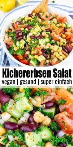 Healthy Food Recipes, Clean Eating Recipes, Eating Clean, Vegan Recipes, Eating Healthy, Snacks Recipes, Plats Healthy, Chickpea Salad, Vegetarian Meals