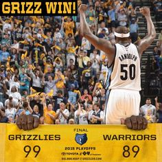 #Grizzlies defeat the #Warriors, 99-89 and takes a 2-1 series lead. @MacBo50 ends w/ 22pts and 8reb