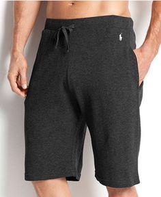 Polo Ralph Lauren Men'S Loungewear, Waffle Thermal Shorts L, Black