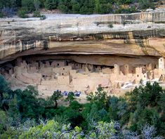 Anasazi Cliff Dwelling at Mesa Verde National Park in Colorado (C1, W19)