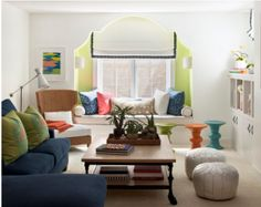 Moroccan Lounge - contemporary - living room - minneapolis - by Lucy Interior Design Moroccan Lounge, Modern Moroccan, Moroccan Style, Moroccan Bedroom, Moroccan Pouf, Moroccan Design, Living Colors, Colourful Living Room, My Living Room