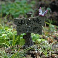 Fairy Homes and Gardens - Butterfly Sign, $5.25 (https://www.fairyhomesandgardens.com/butterfly-sign/)