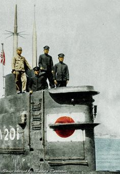 """nwobhmjp: """"Imperial Japanese Navy Submarine """" - pin by stinky old poop stain Naval History, Military History, Women's History, British History, Ancient History, American History, Native American, Us Marines, German Submarines"""