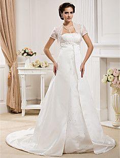 HART - Vestido de Noiva em Cetim com Xale – BRL R$ 349,86