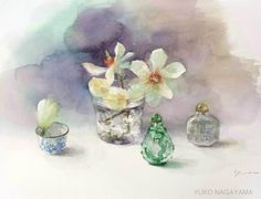 Discussion on LiveInternet - Russian Service Online Diaries Watercolor Scenery, Watercolor Ocean, Watercolor And Ink, Watercolor Flowers, Watercolor Paintings, Art Floral, Japanese Painting, Fine Art Gallery, Painting & Drawing