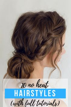 These 10 no heat hairstyles are exactly what your hair has been begging for! Whether you're trying to grow your hair out, bring some life to your locks or shave a few minutes off your morning routine, having a few no heat hairstyles under your belt is a good idea. #noheat #hair #hairstyles #heatless