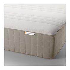 HAUGESUND Spring mattress, medium firm, dark beige - medium firm/dark beige - King - IKEA