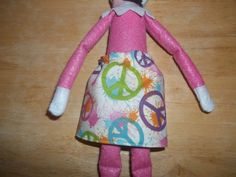 Christmas Elf doll skirt cream with colorful peace signs on it by on Etsy Christmas Elf Doll, Peace Signs, Colorful, Dolls, Skirt, Cream, Etsy, Rock, Doll
