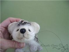 """This is a fantastic Russian tutorial for a needle felted hedgehog. Answers so many of the """"so that's how they do it!"""" questions. Great clear images."""