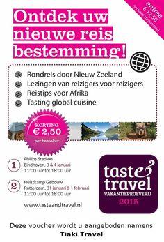 Taste & Travel kortingsvoucher!  Print en gebruik deze als je naar Taste & Travel gaat!