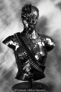 WARIANNE sculpture metal ciborg by n uman sculptor art