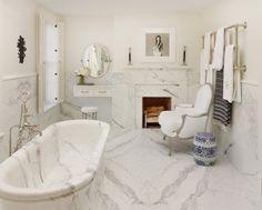 All white marble bathroom