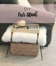 Make Your Own Designer Fur Stool